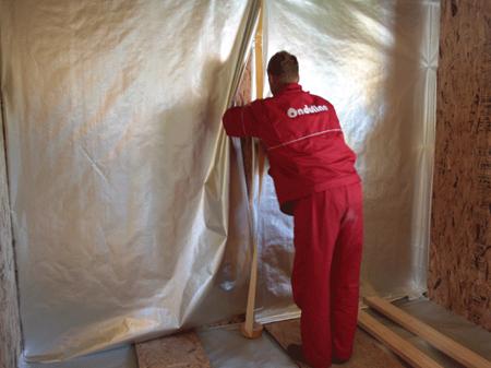 Изоляция стен и потолков (Ондутис R Термо или R70, R100)