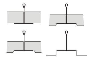 Варианты кромок используемых панелей